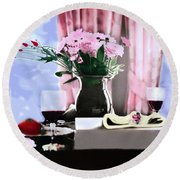 Romance In The Afternoon 2 Round Beach Towel