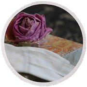 Romantic Memories Round Beach Towel