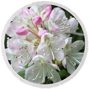 Romantic Rhododendron Round Beach Towel