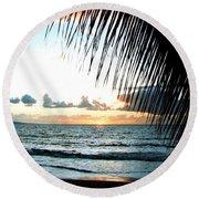 Romantic Sunset Round Beach Towel