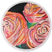 Romantic Round Beach Towel