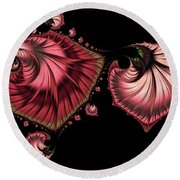 Romantically Jewelled Abstract Round Beach Towel