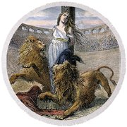 Rome: Christian Martyrs Round Beach Towel