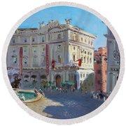 Rome Piazza Republica Round Beach Towel