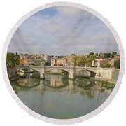 Rome Reflections Round Beach Towel