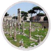 Rome Ruins Round Beach Towel