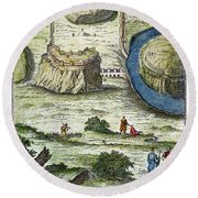 Rome: Seven Hills, 18th C Round Beach Towel