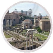 Rome The Old New World Round Beach Towel