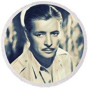 Ronald Colman, Hollywood Legend Round Beach Towel
