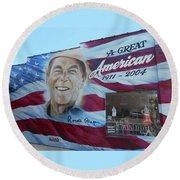 Ronald Reagan 1 Round Beach Towel