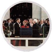 Ronald Reagan Inauguration - 1981 Round Beach Towel