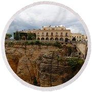 Ronda Spain- The Puente Nuevo Round Beach Towel