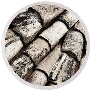 Roof Tile Abstract Round Beach Towel