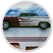 Roof Top Car Round Beach Towel