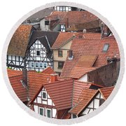 Roofs Of Bad Sooden-allendorf Round Beach Towel