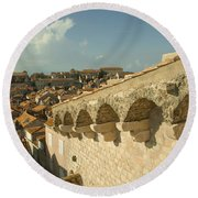 Rooftops Of Dubrovnik  Round Beach Towel