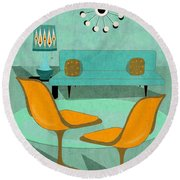 Room For Conversation Round Beach Towel
