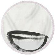 Room To Receive 1- Zen Abstract Art By Linda Woods Round Beach Towel