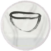 Room To Receive 2- Art By Linda Woods Round Beach Towel