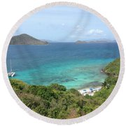 Room With A View Round Beach Towel