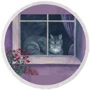 Room With A View Round Beach Towel by Kathryn Riley Parker