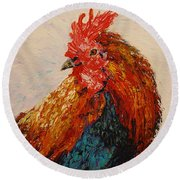 Rooster 1 Round Beach Towel