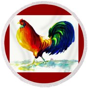 Rooster - Big Napoleon Round Beach Towel