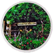 Rooster Hollow Round Beach Towel
