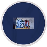 Rooster House Amazement No Head Round Beach Towel