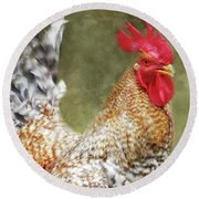 Rooster Jr. Strut Round Beach Towel