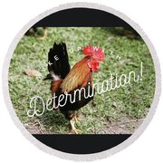 Rooster Living Round Beach Towel