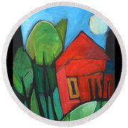 Root Cellar Round Beach Towel