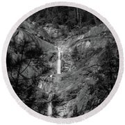 Root Creek Falls Round Beach Towel