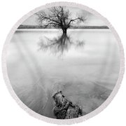 Roots And Trees Round Beach Towel
