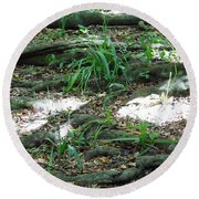 Roots Round Beach Towel