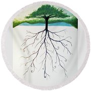Roots Of A Tree Round Beach Towel