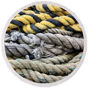 Ropes Round Beach Towel