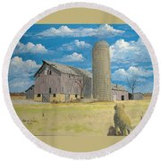 Rorabeck Barn Round Beach Towel