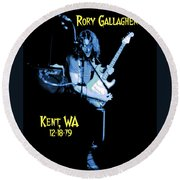 Rory Kent Blues Round Beach Towel