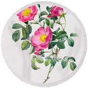 Rosa Lumila Round Beach Towel