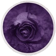 Rose - Purple Round Beach Towel
