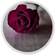 Rose #003 Round Beach Towel