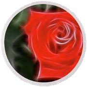 Rose-5890-fractal Round Beach Towel