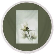 Rose Abstract Round Beach Towel
