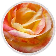 Rose Art Pink Yellow Summer Rose Floral Baslee Troutman Round Beach Towel