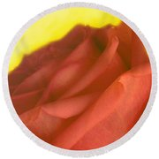 Rose At Sunset Round Beach Towel