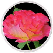 Rose Blushing Cutout Round Beach Towel