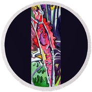 Rose Bud 2 Round Beach Towel