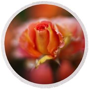 Rose Centerpiece Round Beach Towel