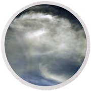 Rose Cloud Round Beach Towel